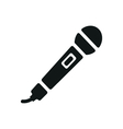 simple black microphone icon on white background vector image