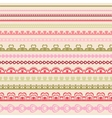 Set of hand drawn lace paper punch borders vector image