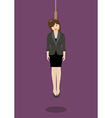 Hanged business woman vector image vector image