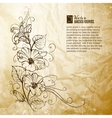 Bindweed on a paper background vector image vector image