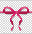 dark red thin bow on transparent background vector image