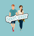 young beautiful couple in sport style vector image
