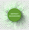 abstract background with green circles halftone vector image vector image