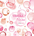 Traces of wine background vector image