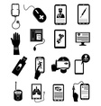 Online Healthcare icons set vector image
