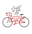 Abstract bicycle with quote vector image vector image