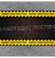 under construction background template vector image