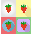 fruits flat icons 14 vector image