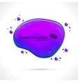 abstract glossy speech bubble background vector image