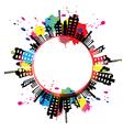 art banner urban design with ink splash vector image