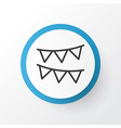 bunting icon symbol premium quality isolated vector image
