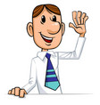 businessman welcomes vector image