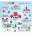 Christmas sale design set - labels emblems vector image