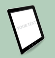 computer tablet perspective vector image