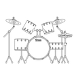 drums set icon vector image