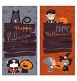 Halloween Banners Set vector image