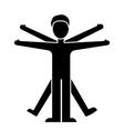 man vitruvian icon blac vector image