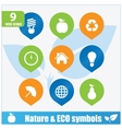 Nature ecology symbols set vector image