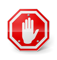 Red metal stop sign vector image