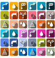 Water Symbols - Icons Set vector image vector image