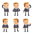 set of advisor character in different poses vector image