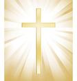 Cross on sunburst background vector image