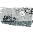 Rustic of a Pirate Ship Sailing vector image