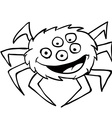 black and white spider vector image