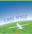 San jose flight destination vector image