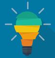Step design of five part light bulb vector image