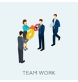 Teamwork Concept Isometric vector image