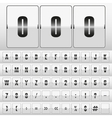 White mechanical scoreboard vector image