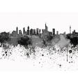 Frankfurt skyline in black watercolor on white vector image