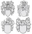 set of aristocratic emblems No4 vector image