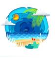 tropical paradise circle banner vector image