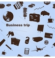 Seamless business trip pattern vector image vector image