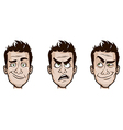 Man Emotions Set vector image