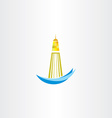 lighthouse symbol design vector image
