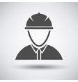 Construction worker head in hemlet icon vector image