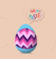 Happy easter card colorful egg ribbon vector image vector image