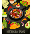 mexican food menu vector image vector image