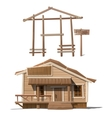Process of building house and sign sale vector image