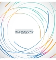 abstract color line and circle background vector image