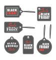 black friday labels vector image