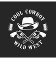Cowboys emblem on a white background vector image