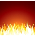 Fire Background Template for Text or Design vector image