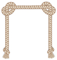 Frame made from rope isolated on white vector image