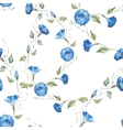 Gentle watercolor floral pattern vector image