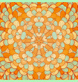 hand drawn ethnic orange and blue greeting card vector image