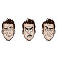 Man Emotions Set vector image